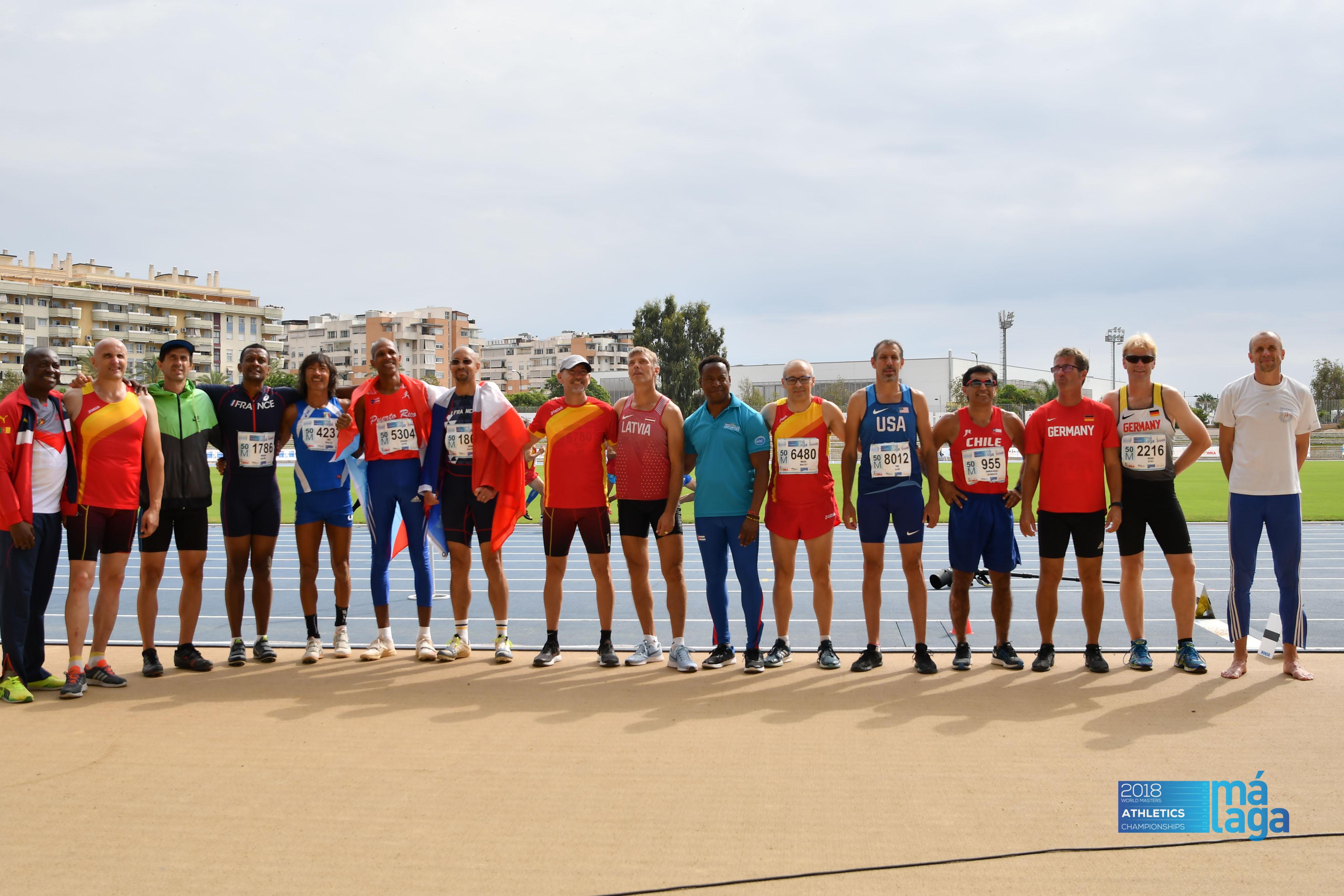 Auch Alf Decker bei der Leichtathletik-Senioren-WM in Malaga ...